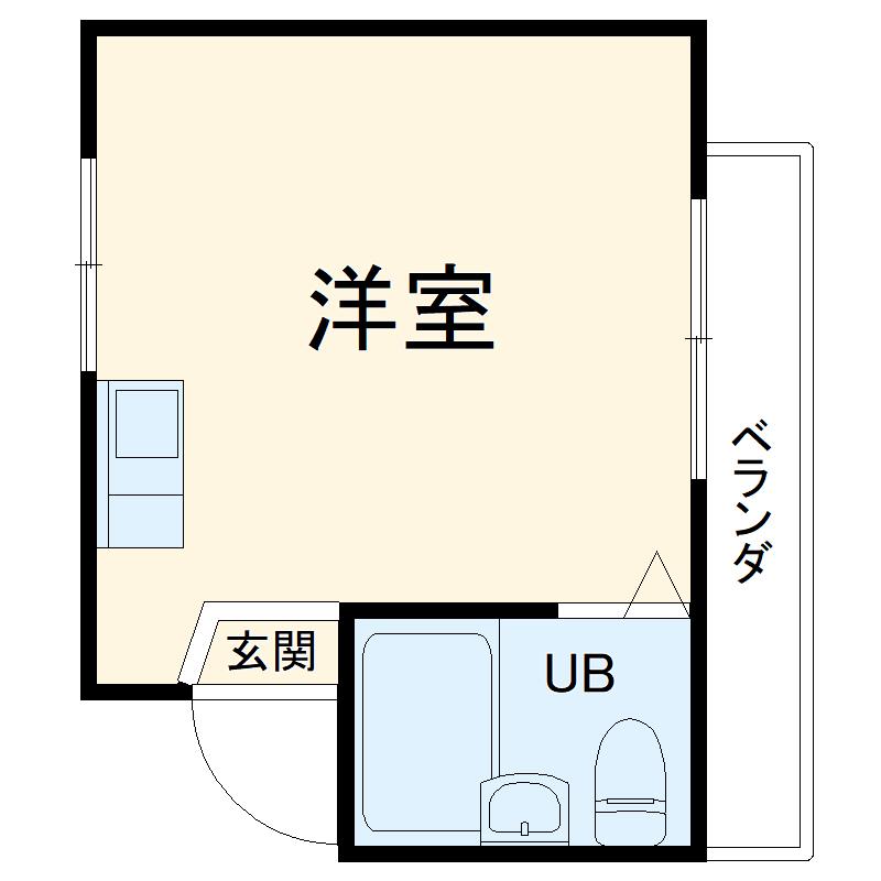 エステー生田2・203号室の間取り