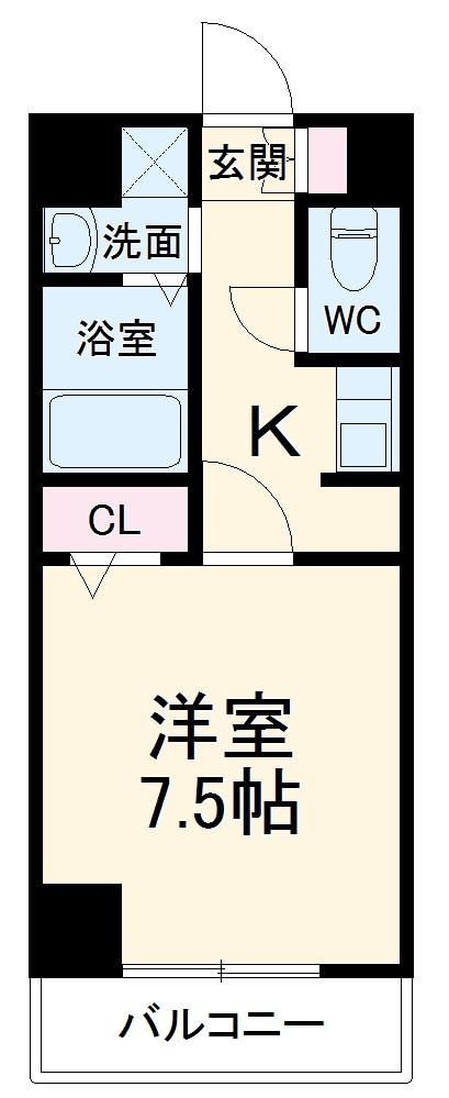 エスポワール亀島・401号室の間取り