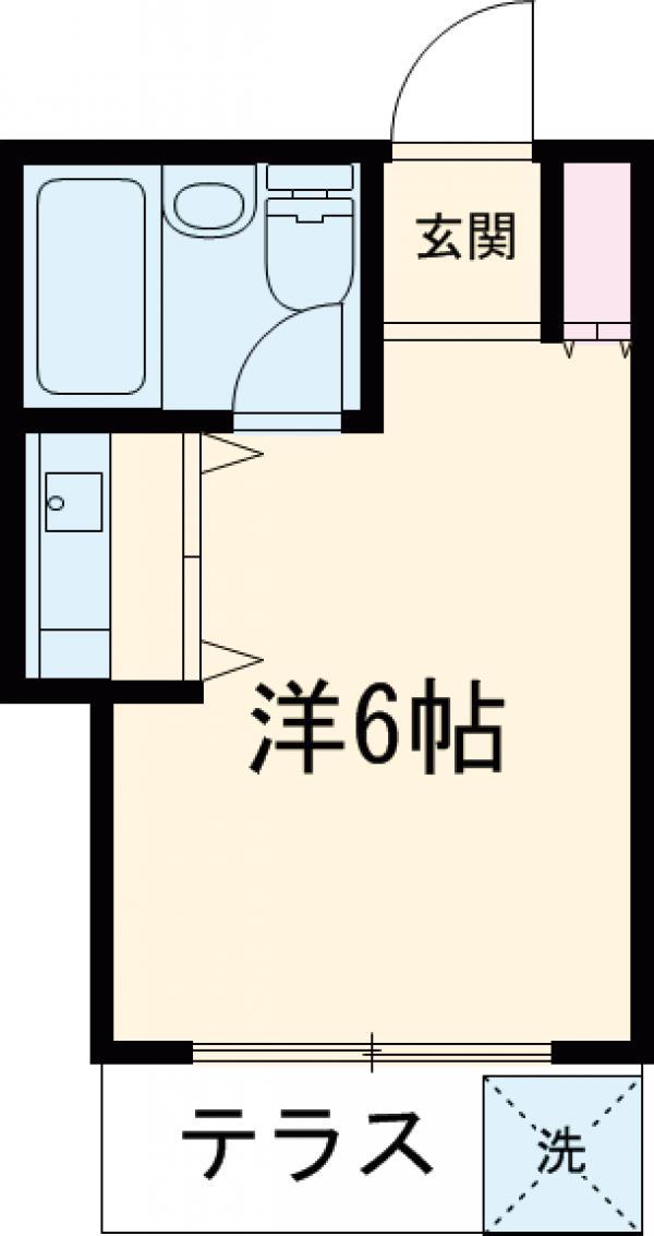ハイツ永島 102号室の間取り