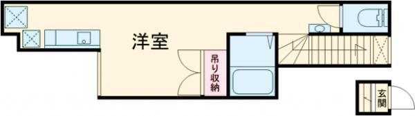 ルラシオン氷川台・2B号室の間取り