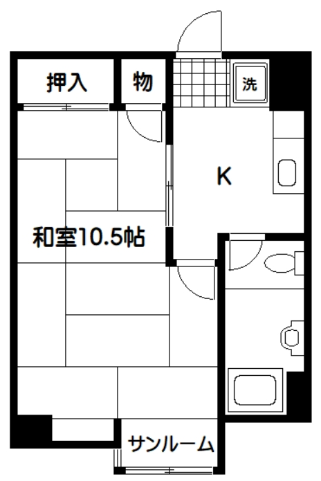 上北沢グリーンコーポ・305号室の間取り