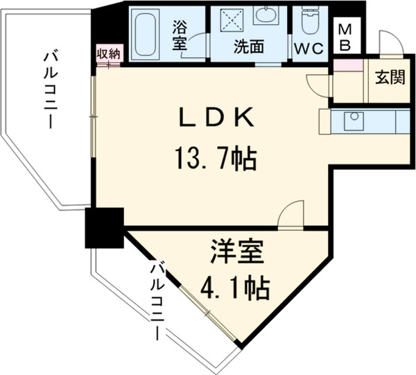 江古田サンライトマンション・402号室の間取り