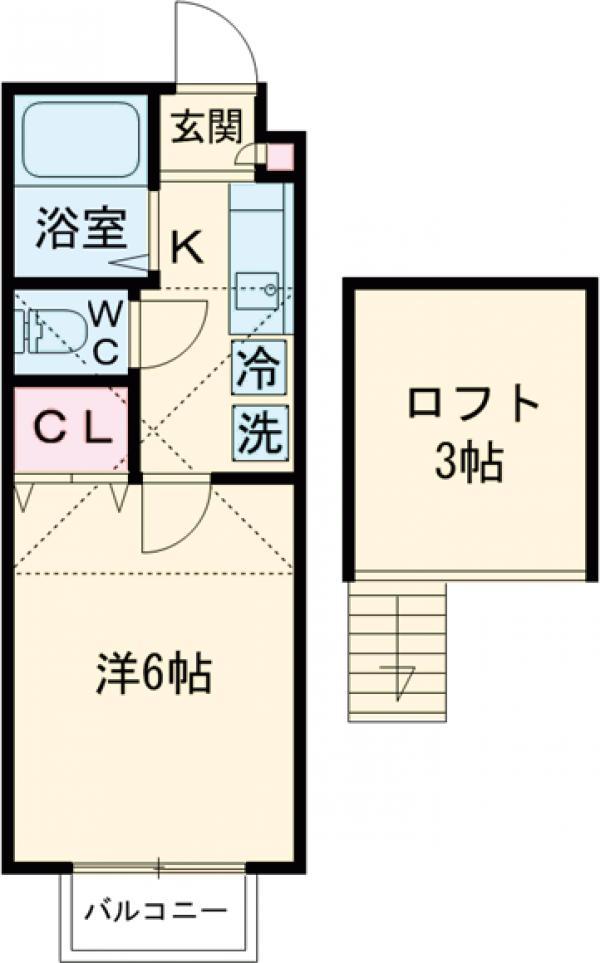 ヴィラ・コート石神井公園Ⅱ・203号室の間取り