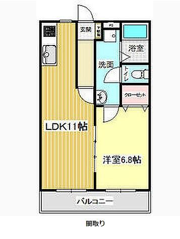 マ・メゾンⅡ・203号室の間取り