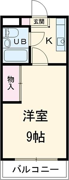 青山ハイツ・302号室の間取り