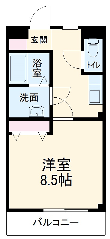 アートオン 東刈谷Ⅱ・203号室の間取り