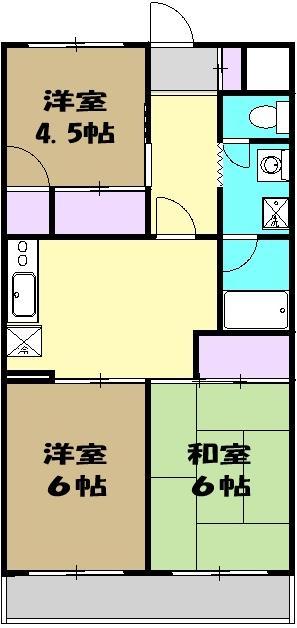 桜木コーポラス・103号室の間取り