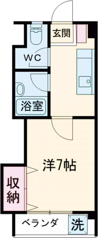 第一葵コーポ 303号室の間取り