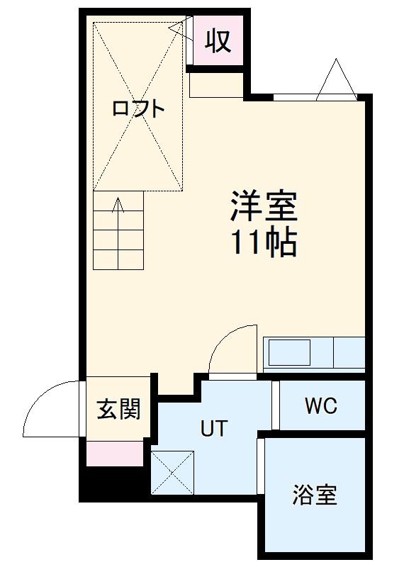 ブリリアントアパートメント伝馬・101号室の間取り