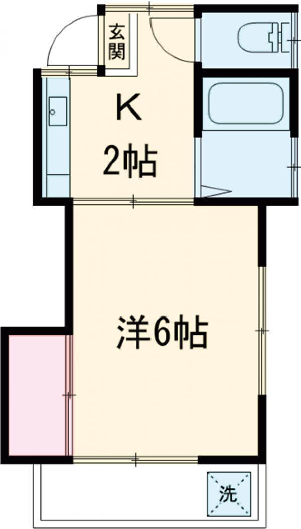 コーポ鈴木・202号室の間取り