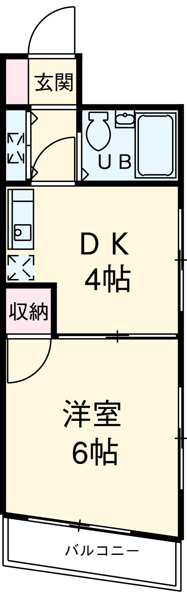 サンピア横須賀 602号室の間取り