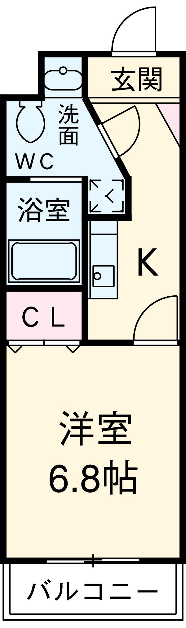エムゼック・ルネス横須賀・311号室の間取り