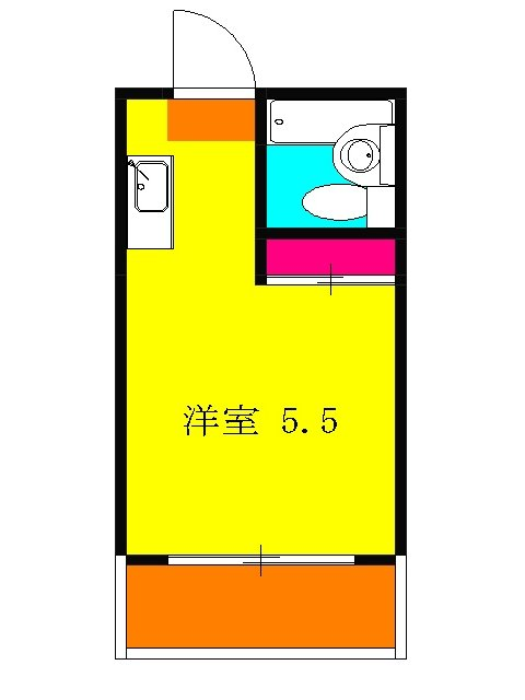 ATハイツ横須賀・101号室の間取り