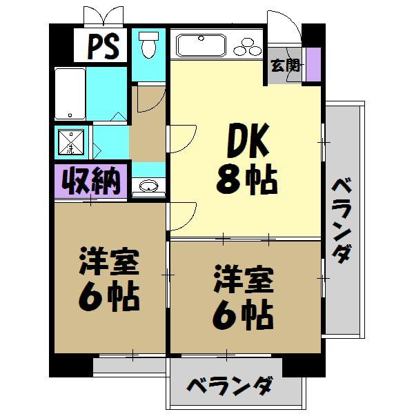 DUKEⅡ・302号室の間取り
