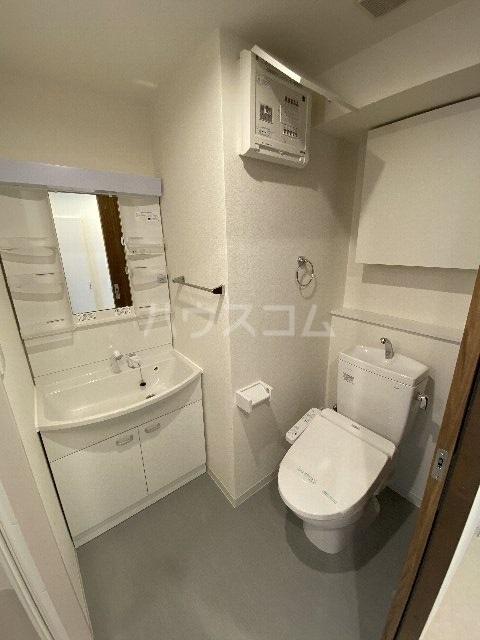 リブリ・アースビル 802号室のトイレ