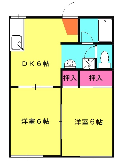 フォルチェーレ湘南・102号室の間取り