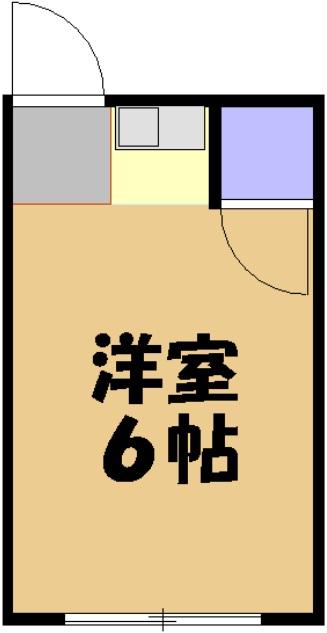 パル城田・208号室の間取り