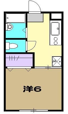 ハイツヤマクラ 202号室の間取り