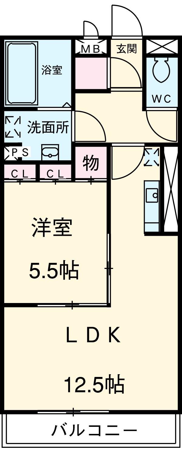Avancer Akane・205号室の間取り