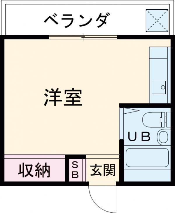 クリーンライトマンション 105号室の間取り