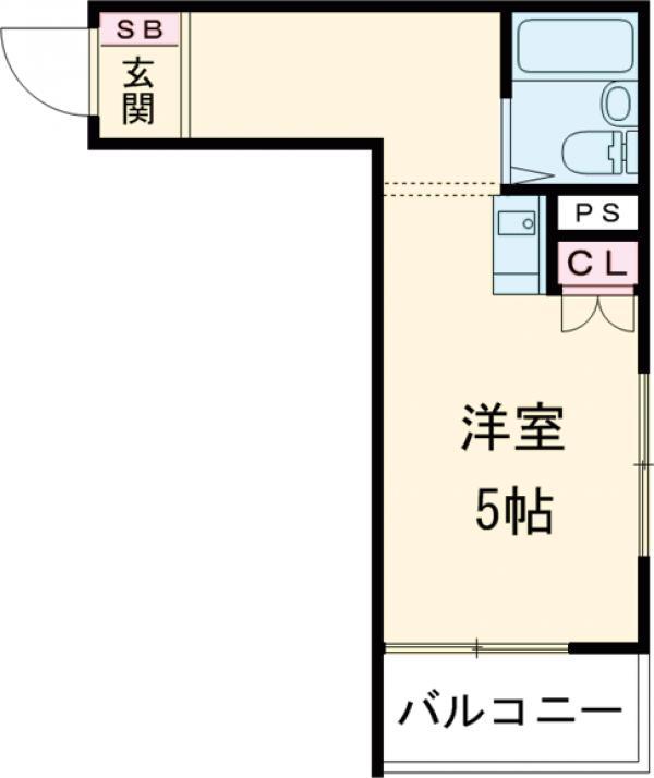 ユーコート武蔵小金井 101号室の間取り