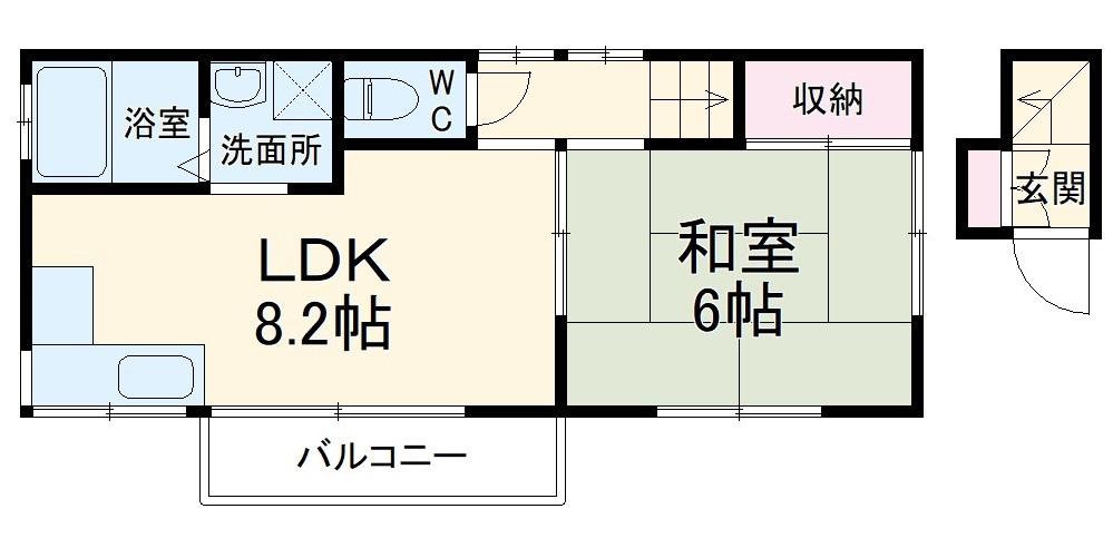 内山アパート・2F号室の間取り