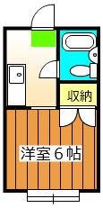 マックハイツ鎌ヶ谷・110号室の間取り