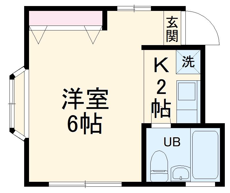 アビタシオンM堀ノ内 C棟・202号室の間取り