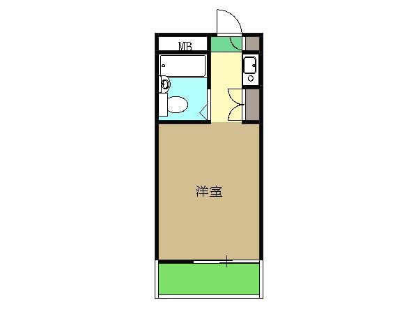 パークアベニュー富岡・305号室の間取り