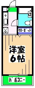 スチューデントハイツWAKATAKE 201号室の間取り