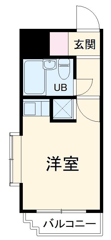 スカイコート横浜弘明寺・205号室の間取り