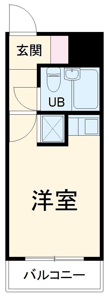 スカイコート横浜弘明寺・402号室の間取り