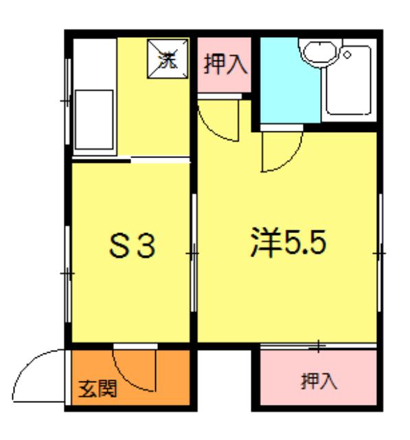 石田荘 201号室の間取り