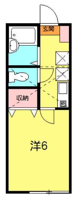 グランマリナー横須賀田浦 204号室の間取り
