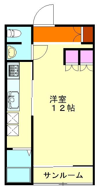 るーばんハイム・206号室の間取り