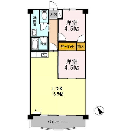 サクセス桜井・103号室の間取り