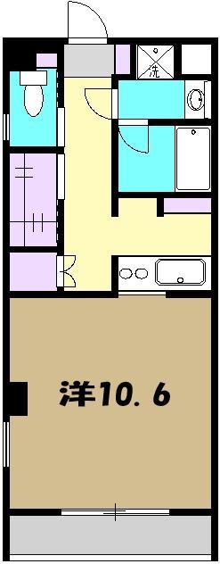 ドゥーエ武蔵小金井・306号室の間取り