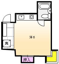 シティパレス横浜鶴間Ⅰ・202号室の間取り