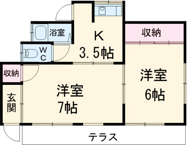 近藤荘Ⅰ・1号室の間取り