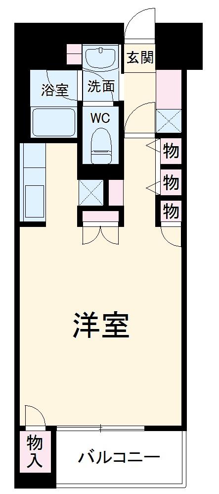 高砂ハイツ高崎西口・701号室の間取り