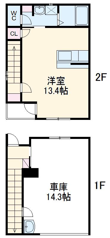 Garage Villa Yonezu・101号室の間取り