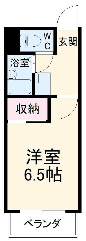 マンション桜井・405号室の間取り