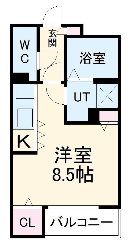AXIA亀島・102号室の間取り
