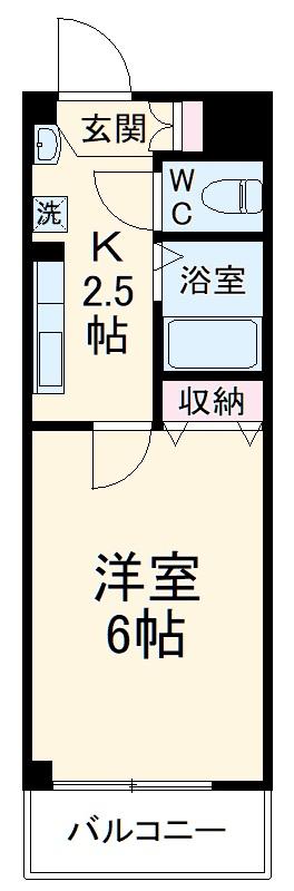 シャトール田口金沢八景・204号室の間取り