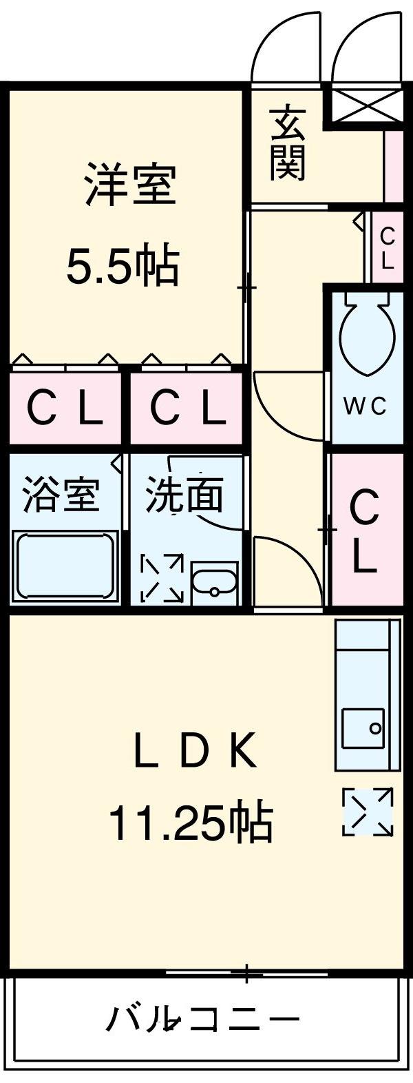 Auberge Nagoya・204号室の間取り