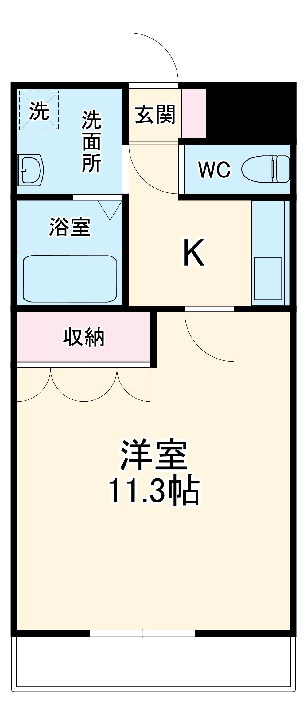 アシューレ.HK・107号室の間取り