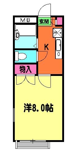 リリックコート鎌倉・203号室の間取り
