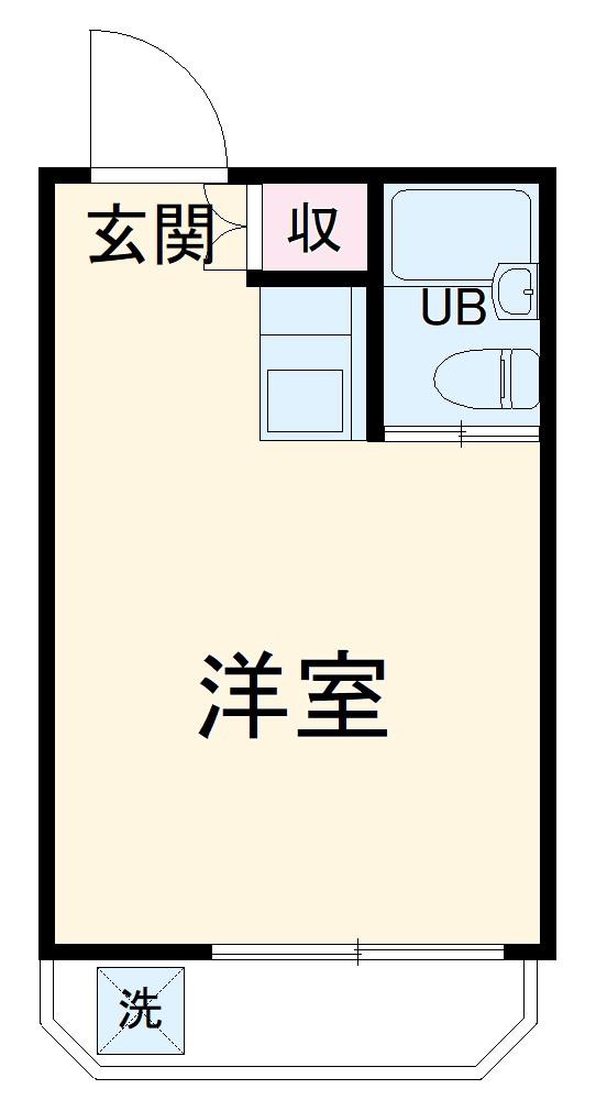 桜コーポ第2 105号室の間取り