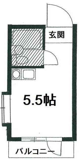 プラザ六浦・103号室の間取り