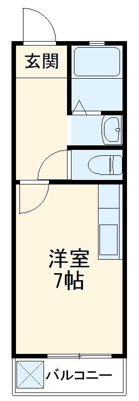 コーポ三重ハウス・203号室の間取り